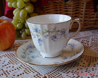 Vintage DUCHESS Tranquility Bone China Cup and Saucer