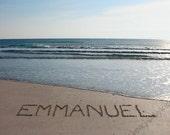 Emmanuel - My One Word - Sand Writing Print