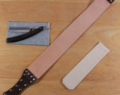 Maple straight razor set with strop and travel pouch, black
