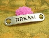 10 pcs Antique Silver Bracelet Links Dream Connectors Inspiration Charms 38x8mm CH1893
