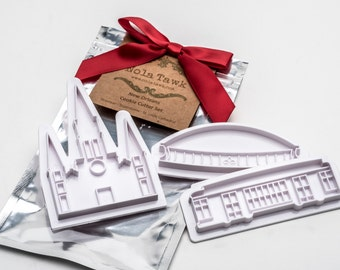 New Orleans Cookie Cutter Set - Streetcar - Superdome - St. Louis Cathedral