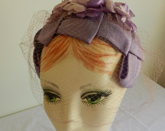 Lilac flower Headband Hat from Marshall Field of Chicago