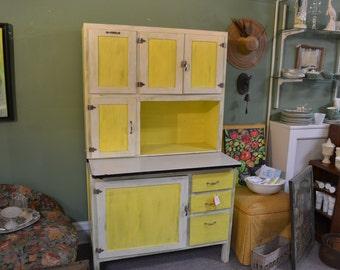 Vintage Painted Flour Cabinet
