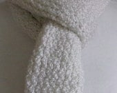 Knitted Scarf, Frosty White