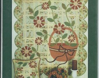 Sarah's Wildflowers Quilt Pillow Pattern Ann Weber Pat Sloan & Co.