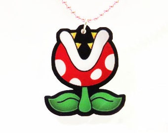 Piranha Plant Necklace, Mario