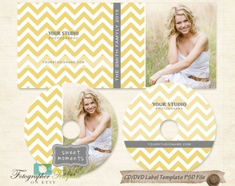 CD DVD Label Cover Templates photoshop template for photographers - BCD11