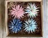 Christmas Ornaments Polish Star - Set of 4 YOUR CHOICE