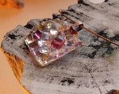 Love and Light - Translucent - fused glass - glass jewelry - creative - gift - glass pendant - dimensional - choker - necklace - purple