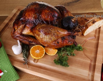 The Perfect Turkey Carving Board Cutting Board & Serving Board