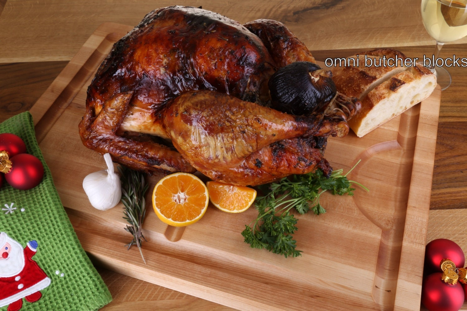 The perfect turkey carving board cutting serving