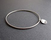 Handmade Bangle Sterling Silver size MD