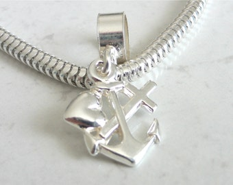 FAITH HOPE and CHARITY Sterling Silver Charm Fits All Slide On Bracelets