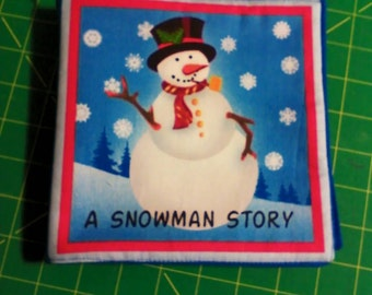 Cloth Book, A Snowman Story, Ready to Ship