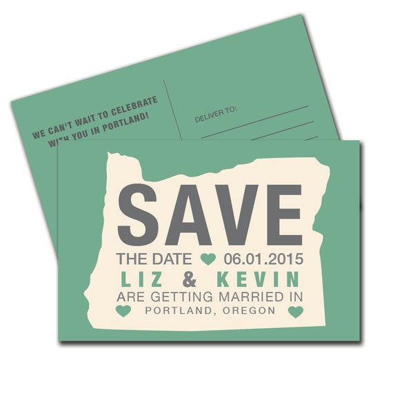 Oregon Save the Date Postcard- Print Order Deposit or Digital File Setup for DIY Printing