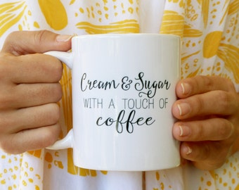 Cream & Sugar Coffee Mug