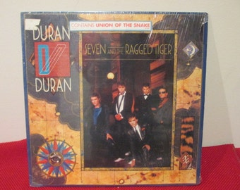 Duran Duran Seven and The Ragged Tiger Collectible Vinyl Record VG to EX Condition
