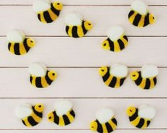 Bumble Bee Edible Sugar Decorations for Cupcake and Cake Decorating (12)