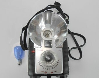 Vintage Brownie StarFlash Camera Kodak Brownie color and black and white flash camera with bulb photography candid camera retro camera