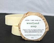Woodland Vegan Soap, Organic Soap, Cold Process Soap, Hand Made Soap