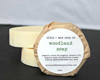 Woodland Vegan Soap, Organic Soap, Cold Process Soap, Hand Made Soap