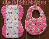 9.5 x 14 ( 240mmx360mm) Quilted Bib/Burp cloth In The Hoop Embroidery Design INSTANT DOWNLOAD