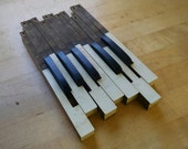 12 Vintage Williams Pump Organ Keys....Upcycle...Recycle.....Steampunk......Think of the Possibilities