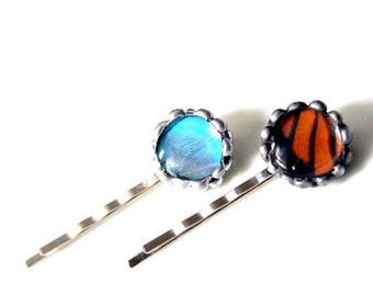 GBK's 2015 MTV Movie Awards Gift Lounge, Blue Butterfly Hair Pin, Monarch Butterfly Hair Pin, Hair Accessories, Real Butterfly Jewelry