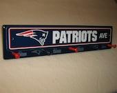 "New England Patriots coat rack ""hangup"""