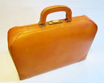 Free Ship Vintage Luggage Suitcase Briefcase 1950s