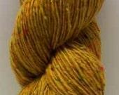 Aran Tweed Yarn (sunflower) Irish Donegal Kilcarra Wool 7oz/200g