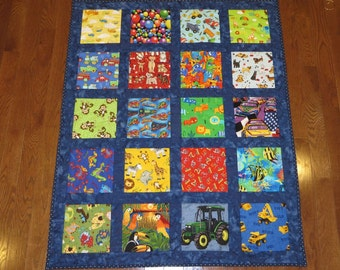 Pattern for I Spy Quilt  or any theme with sashing, Baby ,Toddler quilt or Lap quilt, DIY, Digital Download  by e-mail , Instant Download