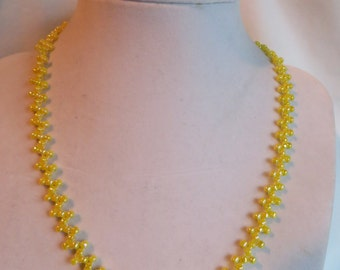 "16.5"" Yellow Necklace  - Tattoo (ZigZag)  Design, Necklace, Tattoo, Zig Zag, Yellow"