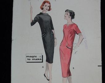 Vintage Pattern  c.1950's Butterick No.8522 Chemise Dress, Sz.12