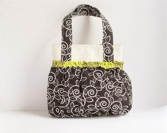 Chocolate Swirls Great Gathers Handbag