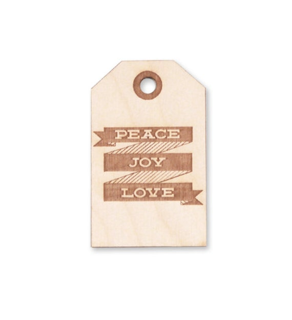 Hangtag Christmas Ornament Wood engraved