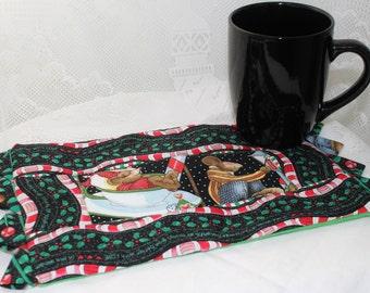 A Christmas Mouse Masterpiece Quilt Mug Rug & Mug Set