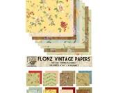 "Scrapbooking Craft Paper Pack (24pcs 6""x6"") FLONZ 042 Spring Flowers"