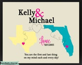 Wedding Sign,Gift for Husband- Anniversary Gift for Men couples  Long distance gift idea Present