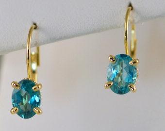 Apatite 14k Gold Earrings