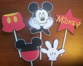 Set of 15 Mickey Mouse cupcake toppers