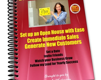NEW! How to Have an Open House Whether you Sell a Product Direct Sales or a Service e-book! FREE BONUS