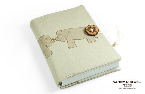 Elephant, Journal, Notebook, Travel Journal, Travel Diary, Sketchbook, Handmade, Elefant, unique gift, éléphant, memopad, carnet, Notizbuch
