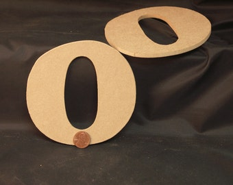 """Hand Cut Alphabets-Numbers, Pack of 2 """"0"""", 4.5"""" Tall, Blank, Ready for your art work"""
