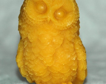 Owl Candle - Pure Beeswax Owl Candle - Baby Owl Candle