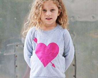SALE, Heart Sweatshirt, Gift for a Girl, Heart Shirt