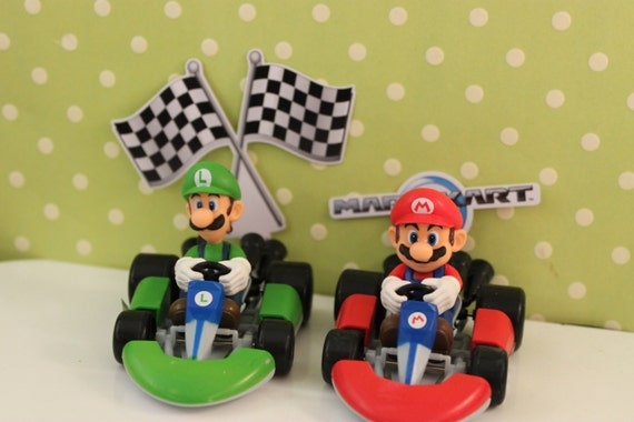 Super Mario Brothers Racing Cake Kit Supplies Cake Toppers