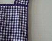 Pretty Purple Plum Gingham Vintage Style Full Woman's Cotton Apron