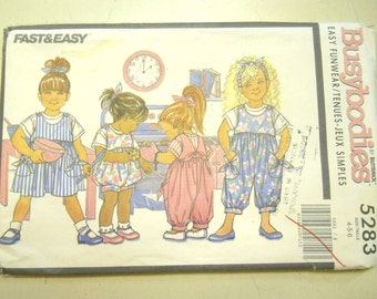 "Butterick 5283 ""Busybodies"" Children's Easy Funwear  Size 4, 5, 6"