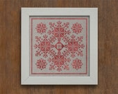 Geometric Flowers Instant Download PDF cross-stitch embroidery pattern